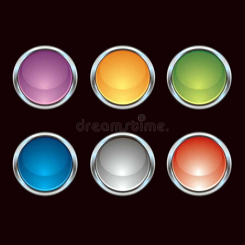 Download Botones Brillantes Del Cromo Ilustración del Vector - Ilustración de redondo, explosión: 7277140