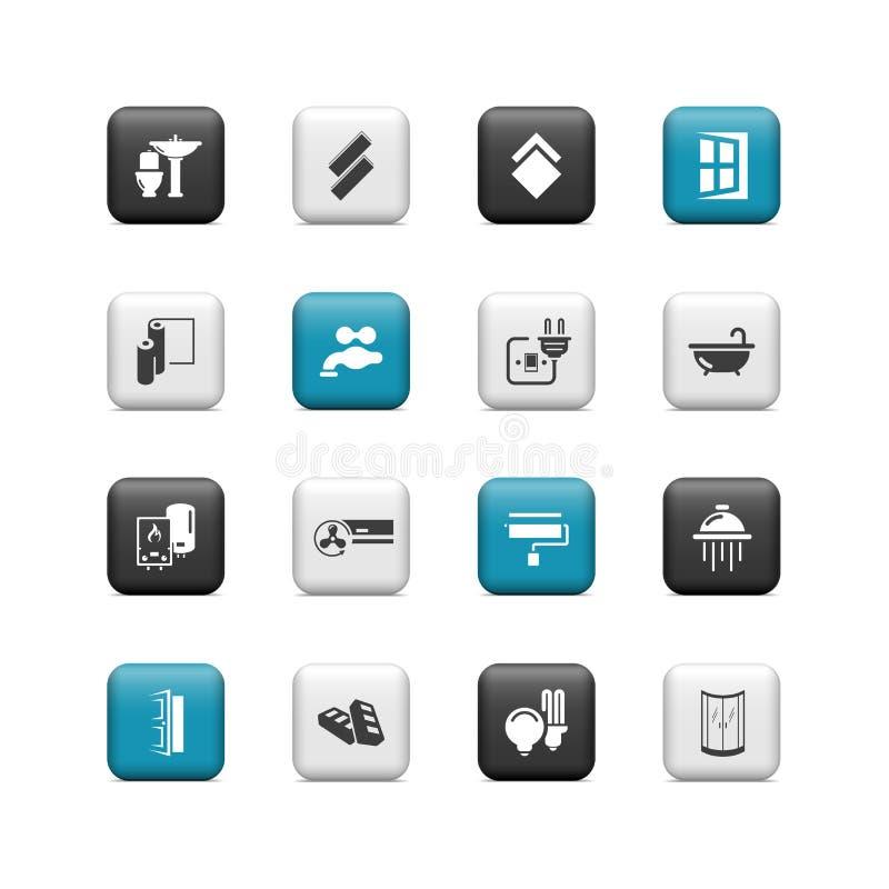Botones caseros de la renovación ilustración del vector