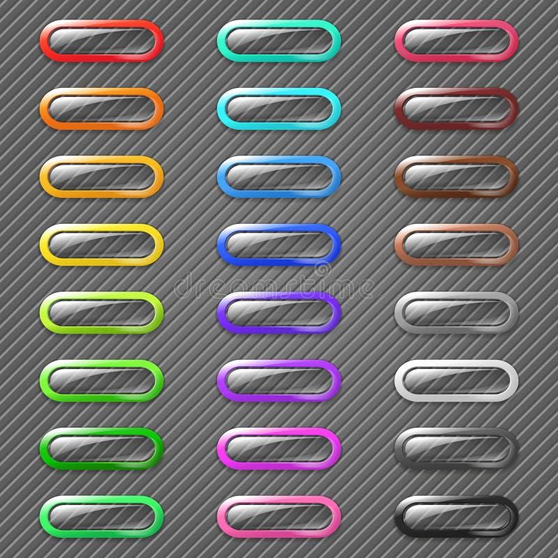 Botones coloreados del Web stock de ilustración