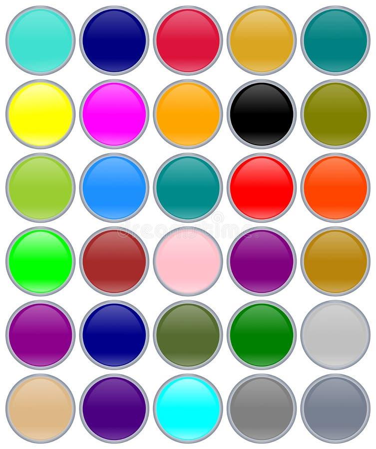 Download Botones coloridos del aqua stock de ilustración. Ilustración de punto - 7276046