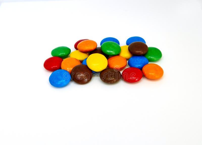 Botones coloridos del chocolate fotos de archivo libres de regalías