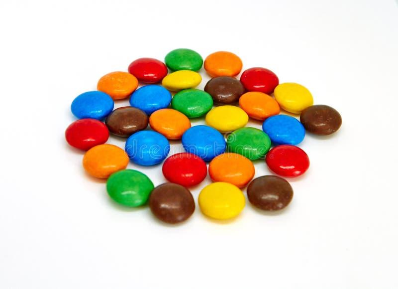 Botones coloridos del chocolate imagen de archivo libre de regalías
