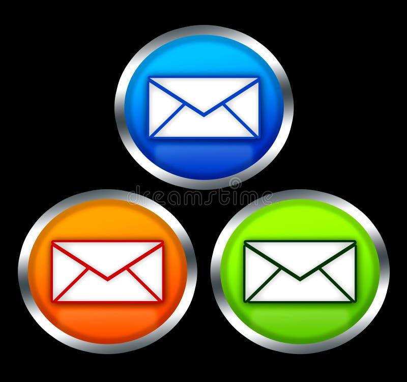 Botones con símbolo del email stock de ilustración