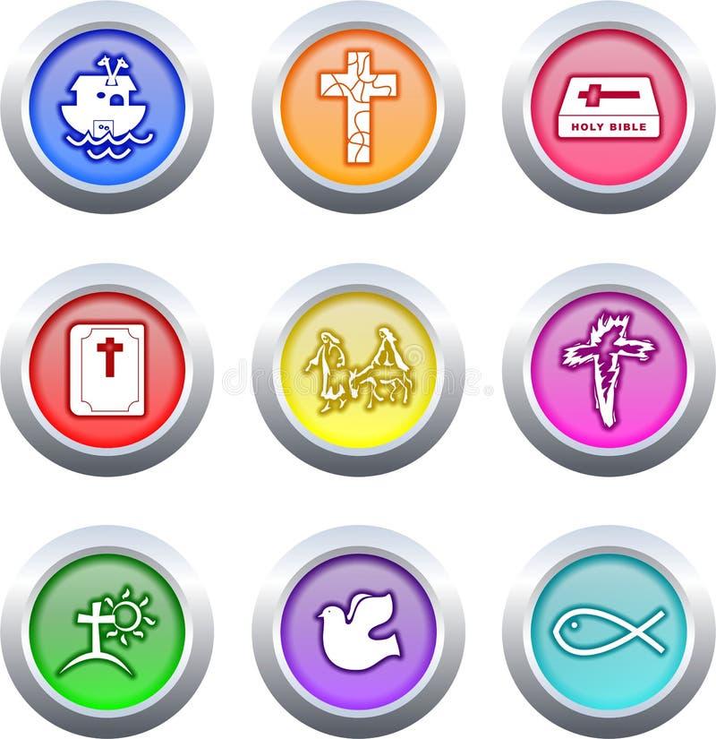 Botones cristianos ilustración del vector