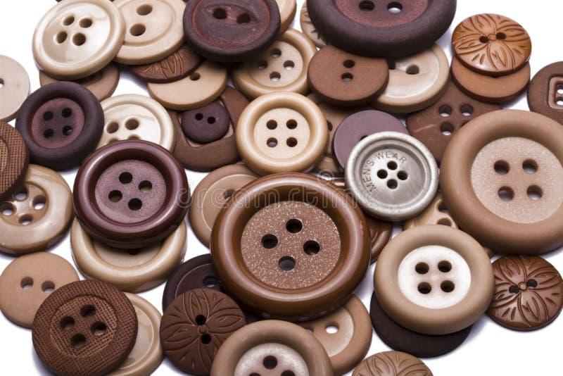Botones de Brown fotografía de archivo