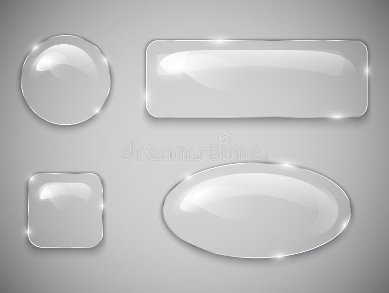 Botones de cristal ilustración del vector