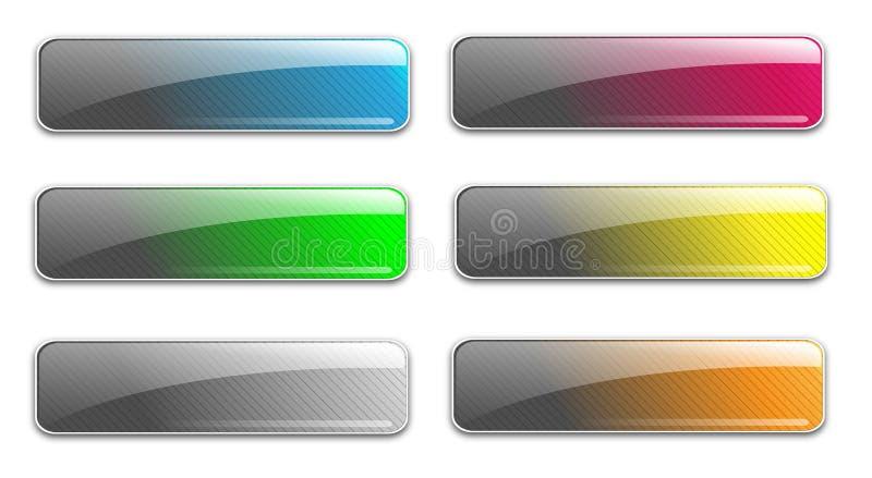 Botones de cristal del Web libre illustration