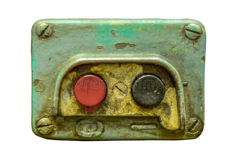 Botones de encendido industriales fotografía de archivo