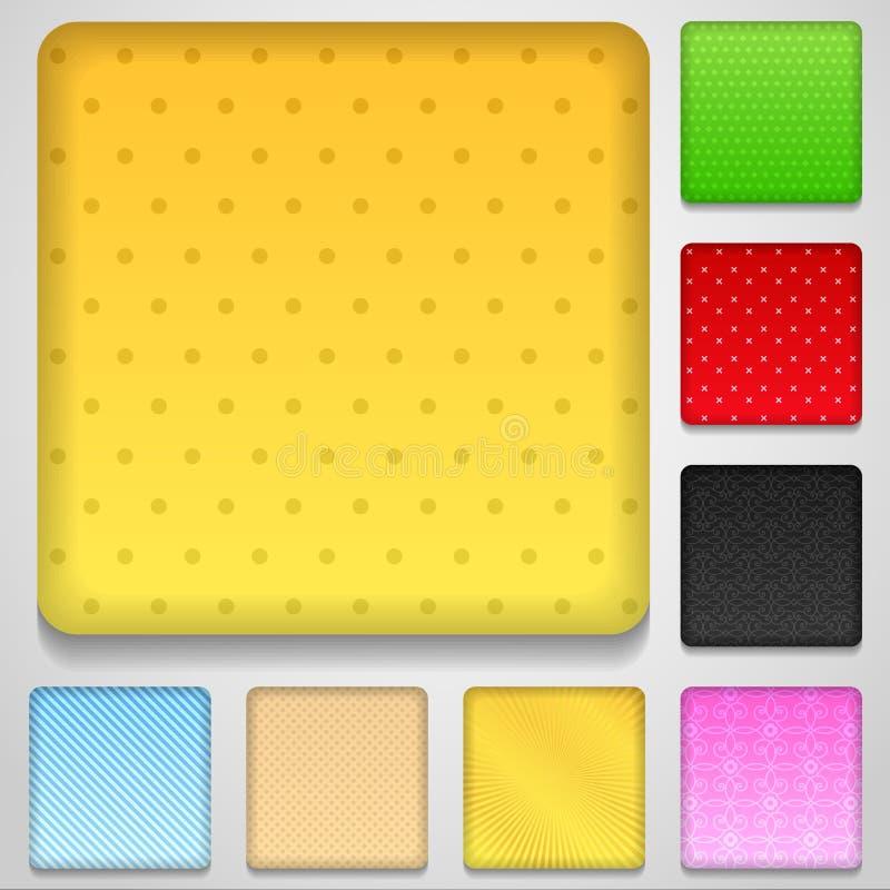 Botones de la aplicación libre illustration