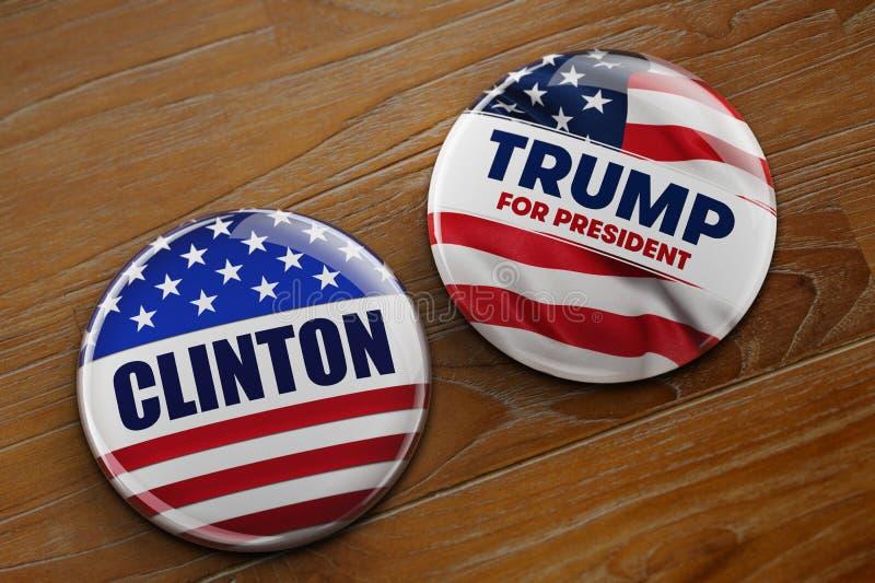 Botones de la campaña presidencial fotografía de archivo libre de regalías