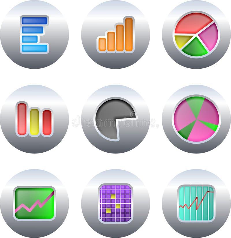 Botones de la carta ilustración del vector
