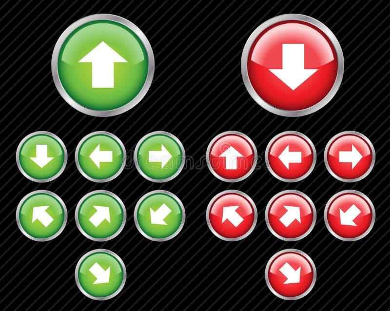Botones de la dirección. stock de ilustración
