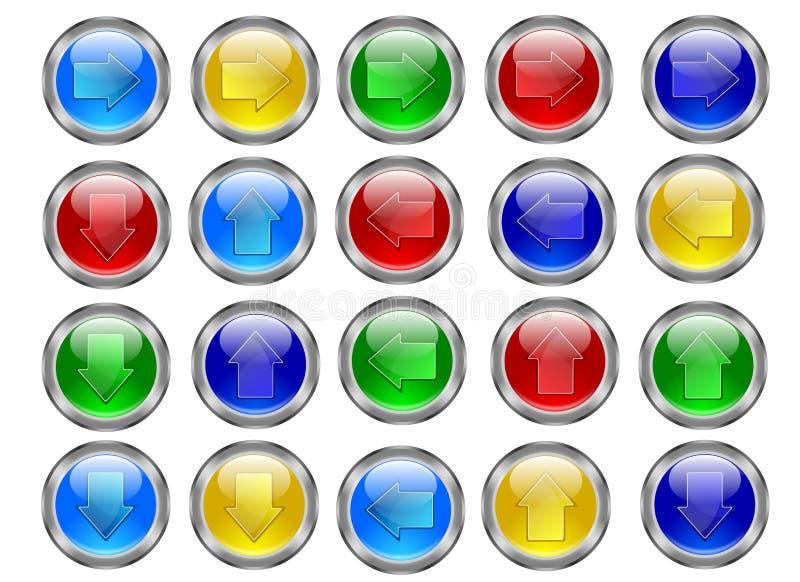 Botones de la flecha stock de ilustración