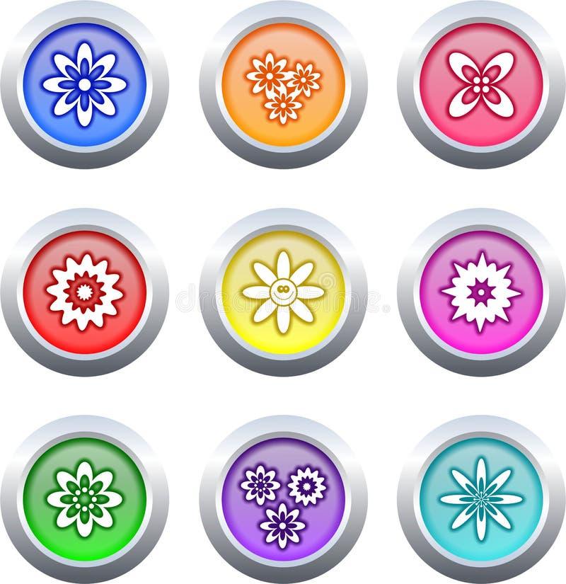 Botones de la flor stock de ilustración