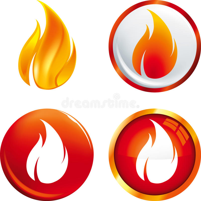 Botones de la llama ilustración del vector