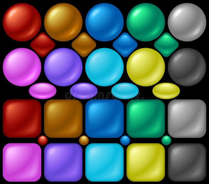 Botones de la perla stock de ilustración