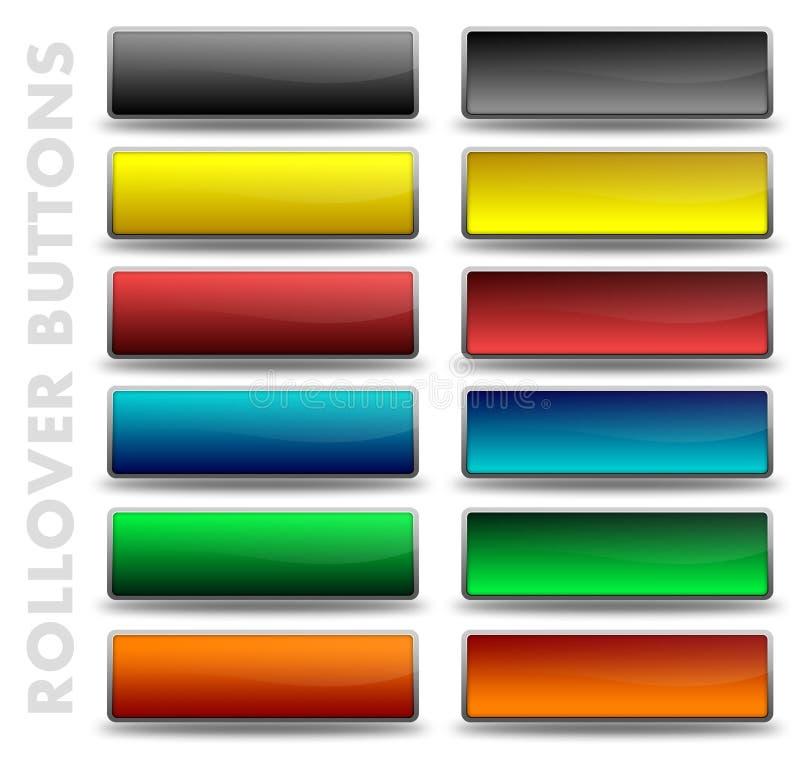 Botones de la refinanciación fotografía de archivo