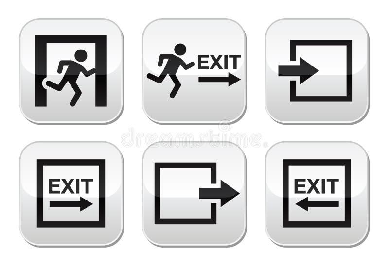 Botones de la salida de emergencia fijados libre illustration