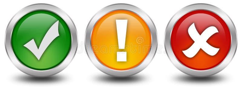 Botones de la seguridad del Web libre illustration