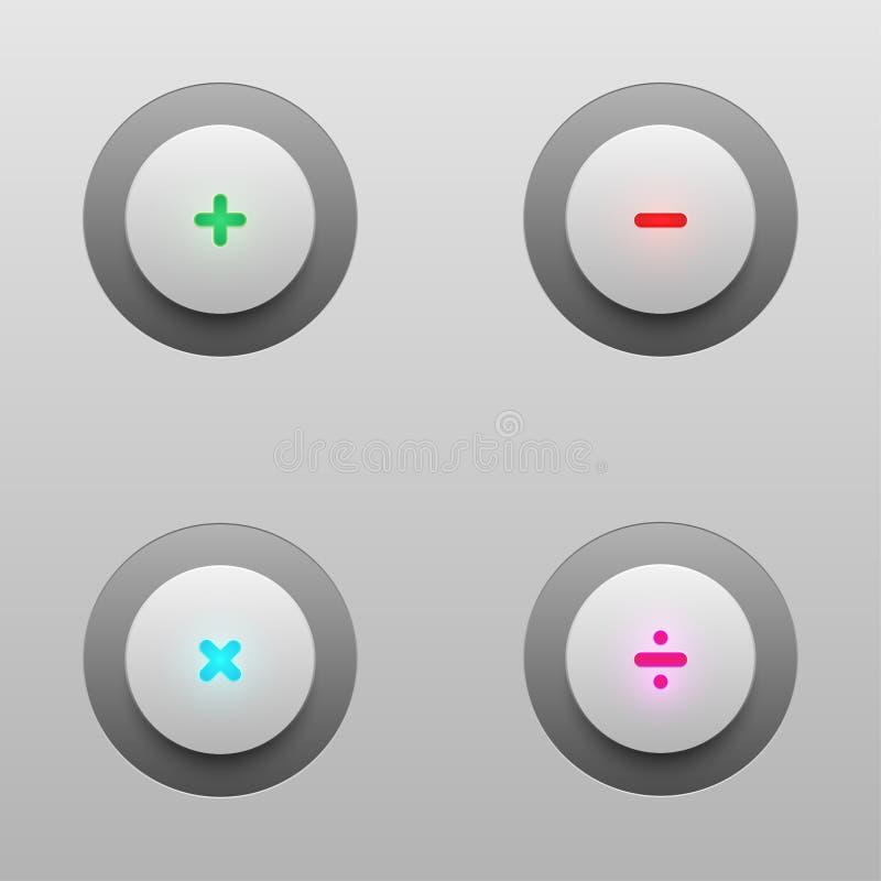 Botones de la tecnología de la matemáticas para el diseño del vector imagen de archivo libre de regalías