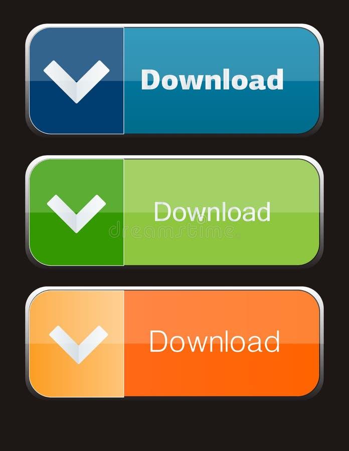 Botones de la transferencia directa fotografía de archivo libre de regalías