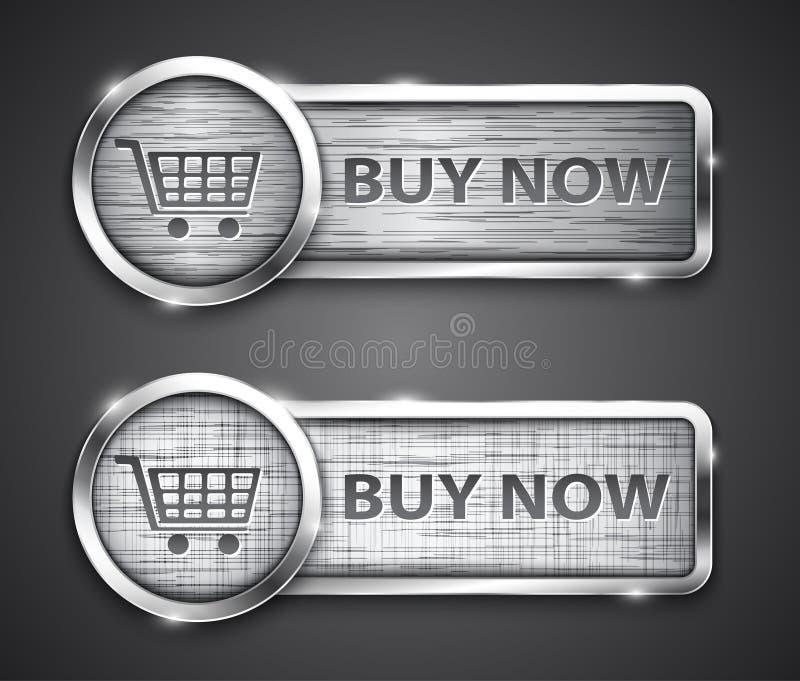 Botones de las compras stock de ilustración