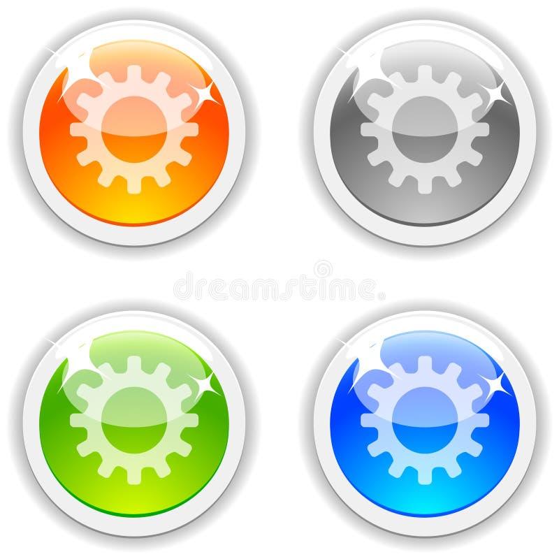 Botones de las configuraciones. libre illustration
