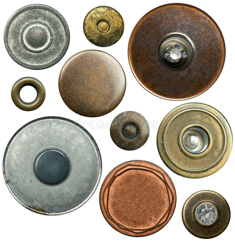 Botones de los pantalones vaqueros fotografía de archivo