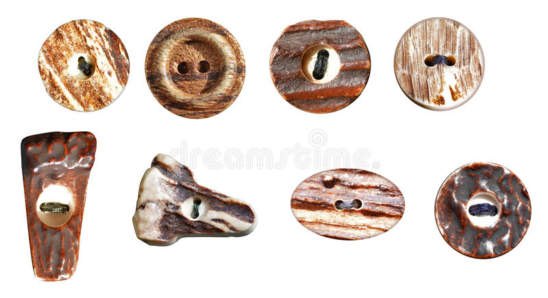 Botones de madera fotografía de archivo