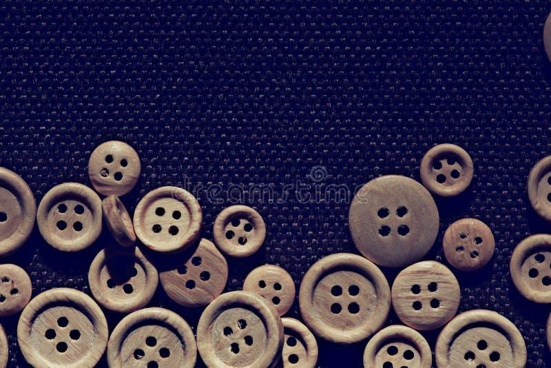 Botones de madera del fondo libre illustration