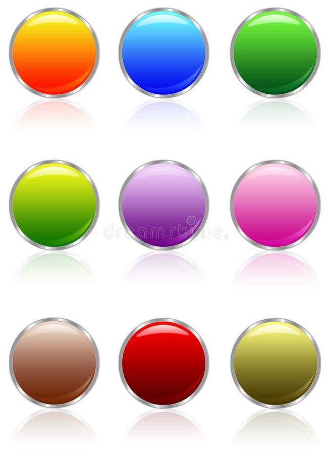 Botones del Aqua ilustración del vector