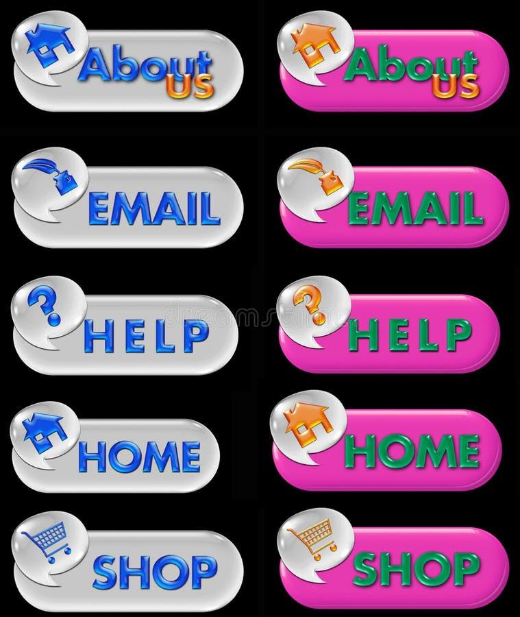 Botones del Aqua libre illustration