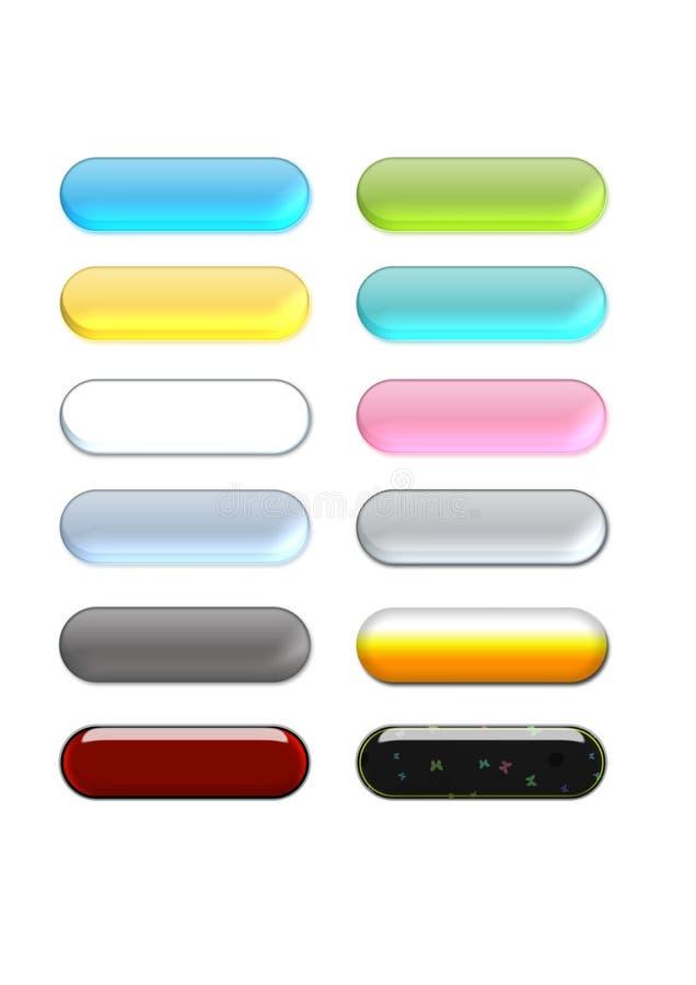 Botones del Aqua stock de ilustración