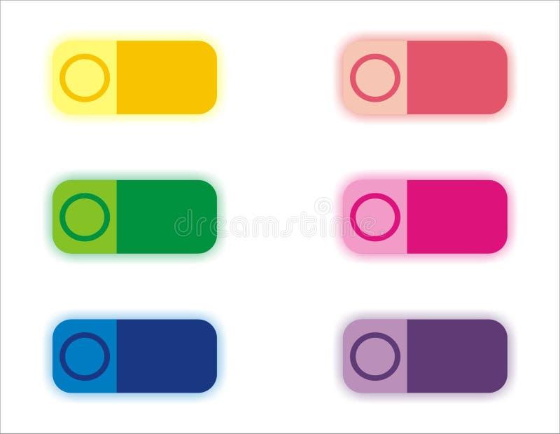Botones del color ilustración del vector