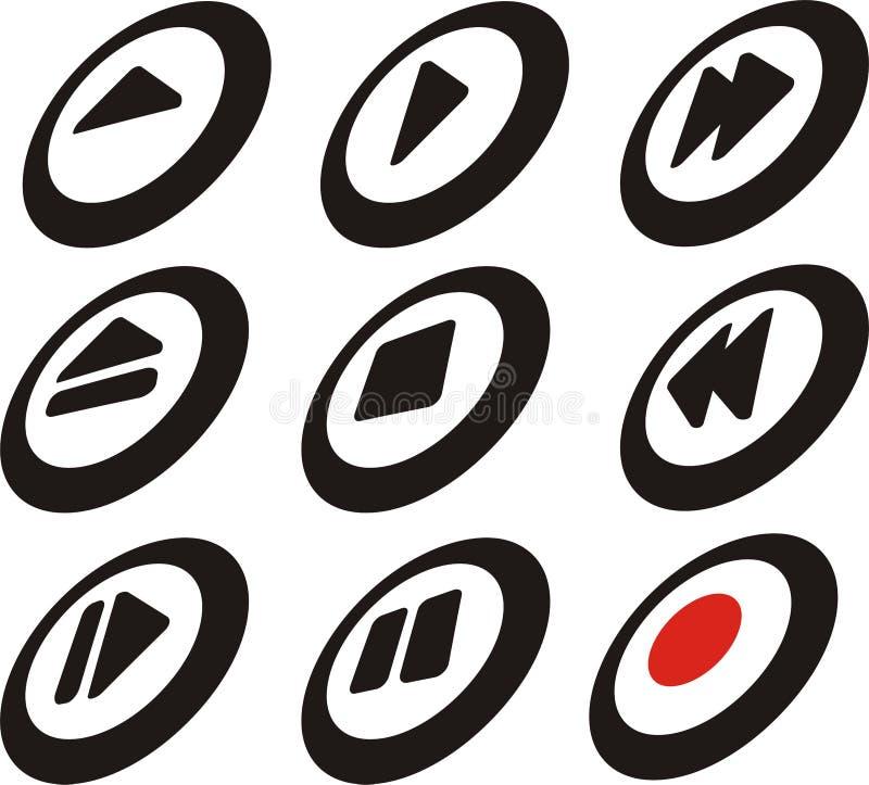 Botones del control del jugador libre illustration