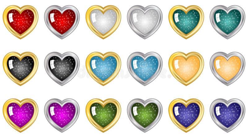 Botones del corazón libre illustration