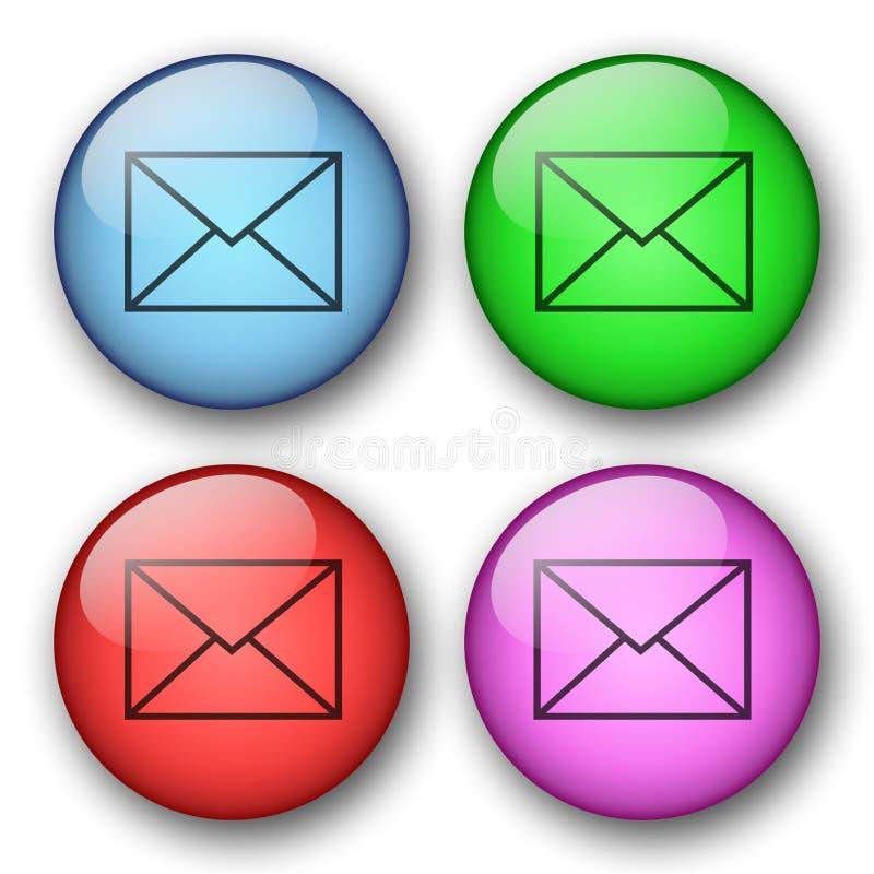 Botones del correo del Web stock de ilustración