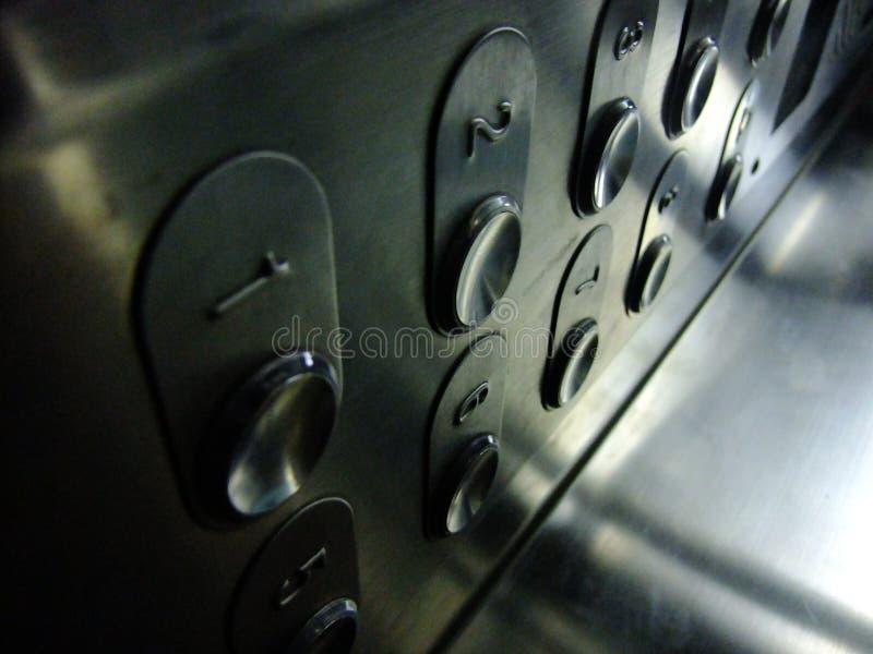 Botones del elevador fotos de archivo