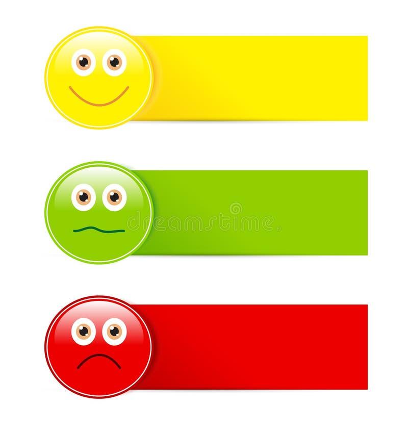 Botones del Emoticon stock de ilustración