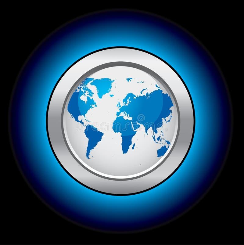 Botones del globo de la ecología ilustración del vector