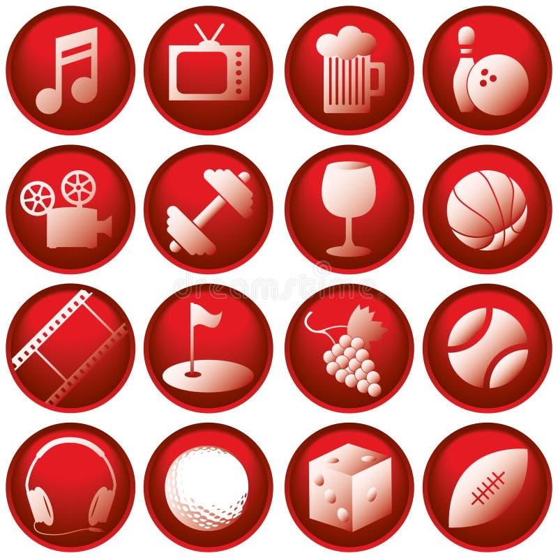 Botones del icono de la reconstrucción libre illustration