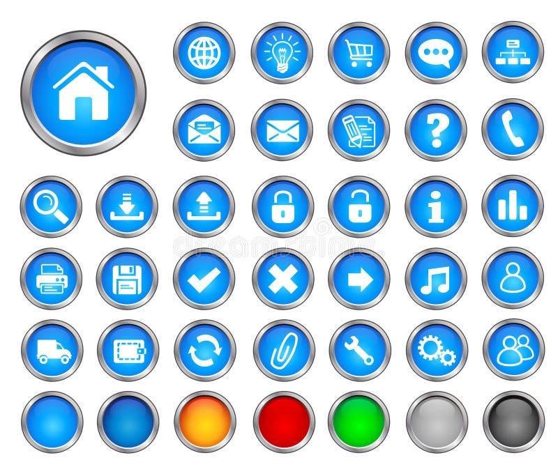 Botones del Internet ilustración del vector
