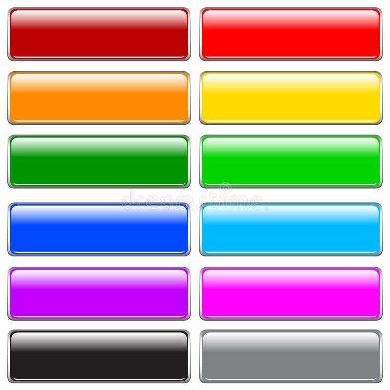 Botones del Internet stock de ilustración