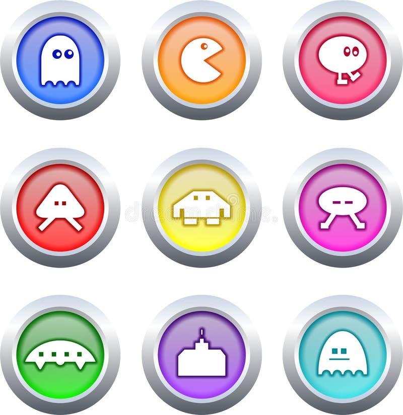Botones del juego stock de ilustración