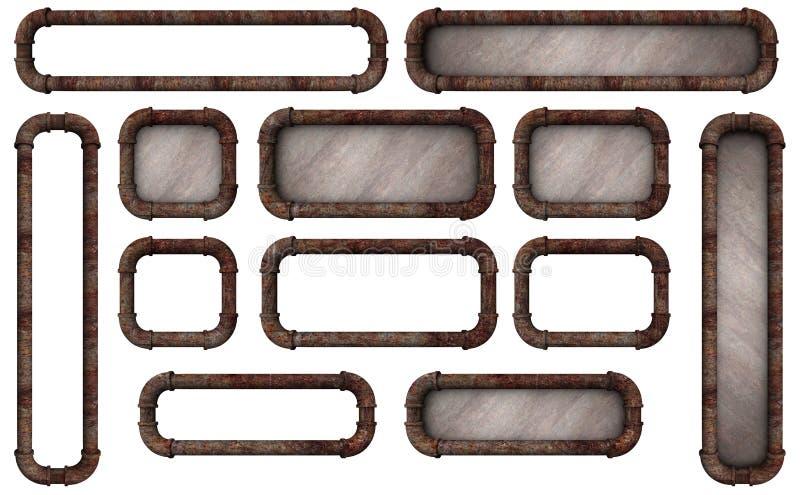 Botones del marco del tubo libre illustration