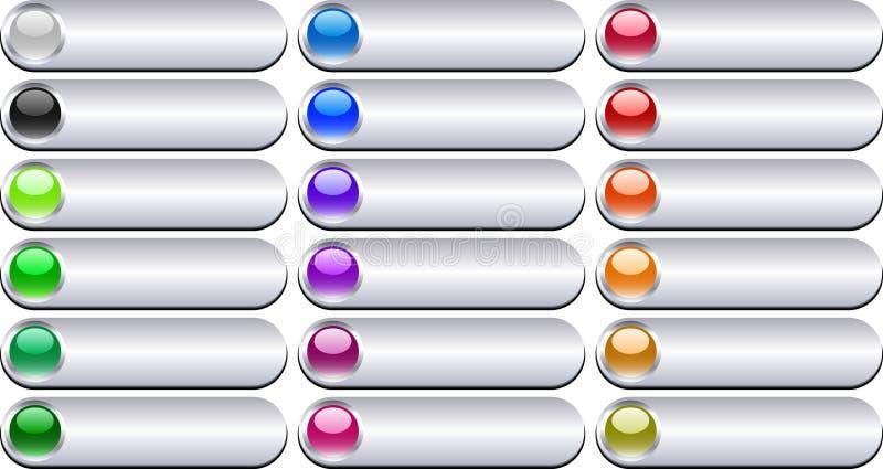 Botones del metal. [Vector] ilustración del vector