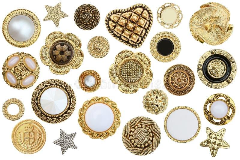 Botones del oro foto de archivo libre de regalías