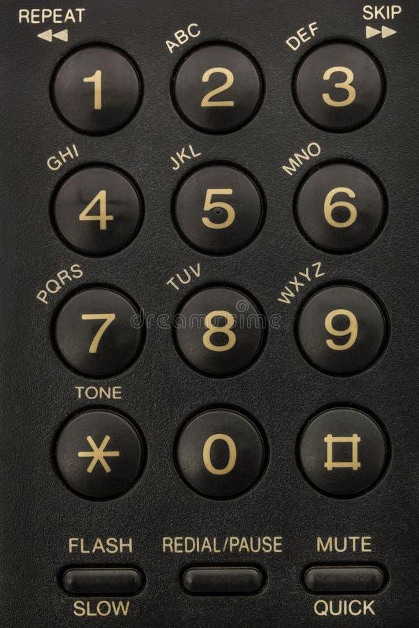 Botones del primer del telclado numérico del teléfono fotos de archivo