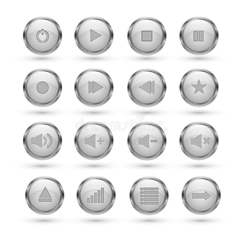 Botones del reproductor multimedia libre illustration