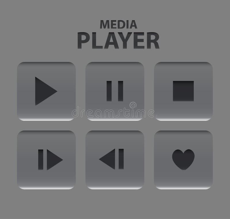 Botones del reproductor multimedia del vector libre illustration
